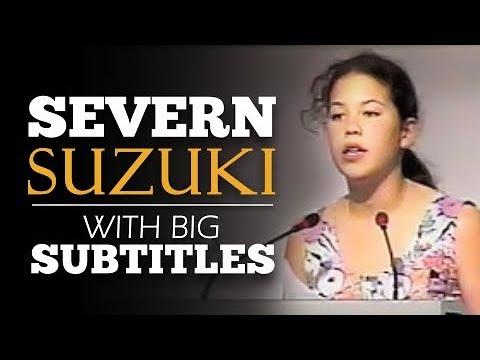 LEARN ENGLISH | SEVERN SUZUKI - I'm fighting for my future (English Subtitles)