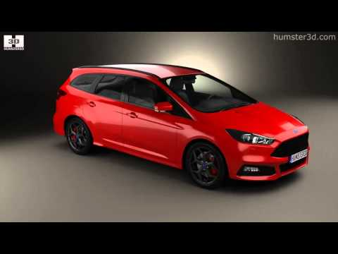 ford focus turnier st 2014 by 3d model store youtube. Black Bedroom Furniture Sets. Home Design Ideas