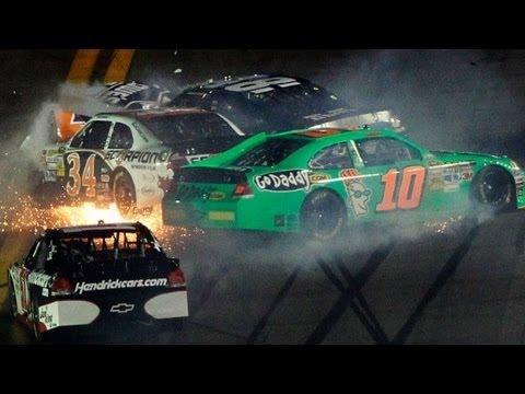 Johnson, Danica Patrick involved in big wreck on Lap 2