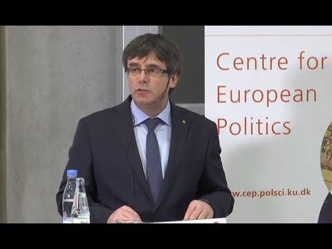 Directo: Conferencia de Carles Puigdemont desde Copenhague
