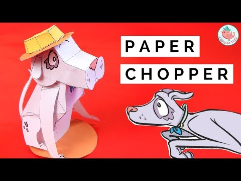 How To Make A 3D Paper Dog! FREE Printable Template Ft. Paper Chopper From The Bobs & Tweets Series
