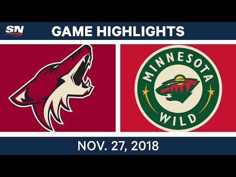 NHL Highlights   Coyotes vs. Wild - Nov 27, 2018