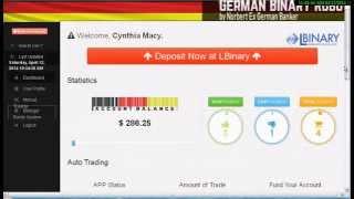German Binary robot Review - Binary trading !!Binary options trading