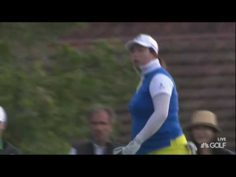 Shanshan Feng Near Hole-in-One on 16th Hole in RD1 of the 2016 Evian Championship