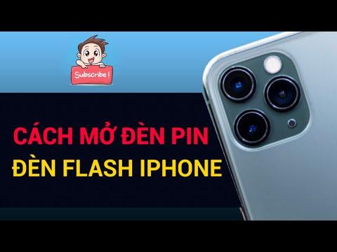Cách bật mở đèn pin, đèn flash iphone 5, 5s, 6, 6s, 6s plus, 7, 7 plus, 8, 8 plus...để soi đường