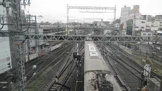 近鉄大和西大寺 展望デッキから京都市営地下鉄を見送る。