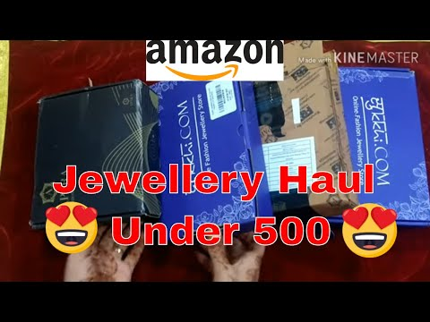 Jewelry Unboxing 2019|Amazon wedding Jewellery haul under 500/jewellery Review