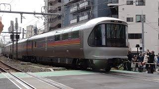 寝台特急カシオペア号が最後の運行を終え、JR上野駅から尾久車両センタ...