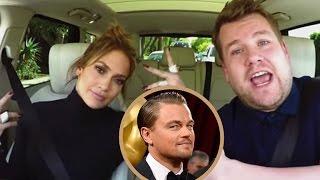 James Corden Hilariously Texts Leonardo DiCaprio from Jennifer Lopez's Phone on 'Carpool Karaoke'