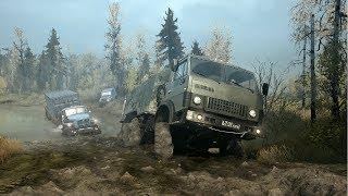 Very Very Cool Off-Road Simulator on PC ! Russian Army Trucks in Spin Tires Mudrunner 2018