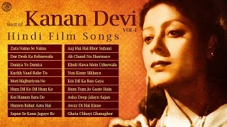 Kanan devi | old hindi film songs | zara naino se naina | best of kanan devi songs