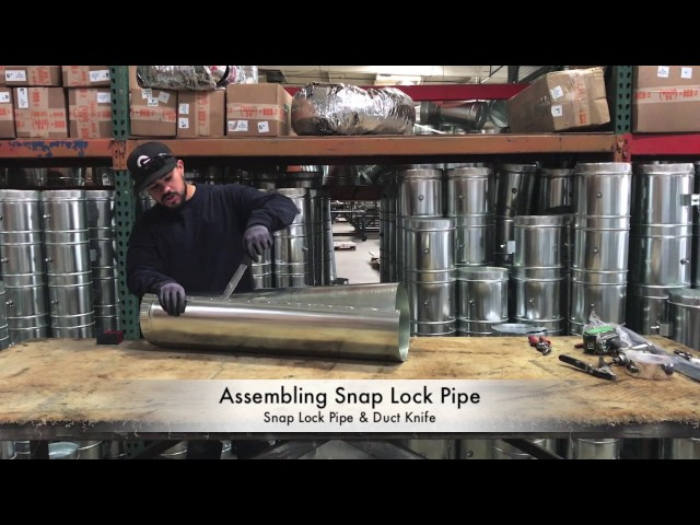 How-To Assemble Snap Lock Pipe - The Duct Shop