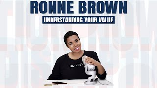 Ronne Brown   Preview   Understand Your Value Youtube