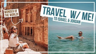 MY TRIP TO ISRAEL & JORDAN! Petra, Dead Sea Floating, Tel Aviv + more! | Travel With Me