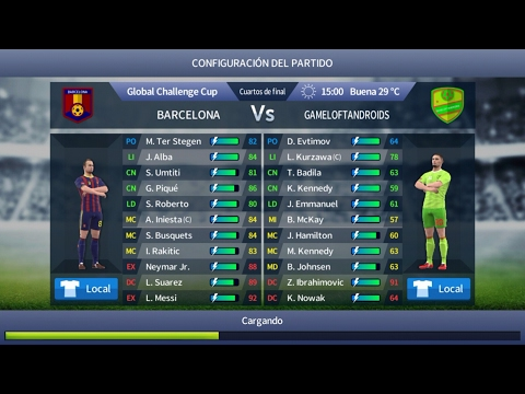 Barcelona Dream League soccer 2017 Gameplay Barcelona Vs Gameloftandroids
