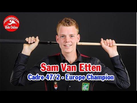 🔥 Cadre 47/2 - Sam Van Etten (Europe Champion) Đẳng cấp của nhà vô địch châu Âu 당구