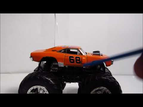 HWMT 1:64 Review: 70 Dodge Charger R/T, (Orange).