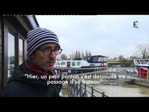 A Nogent-sur-Marne, la Marne a dépassé la cote d'alerte : un reportage du 25 janvier