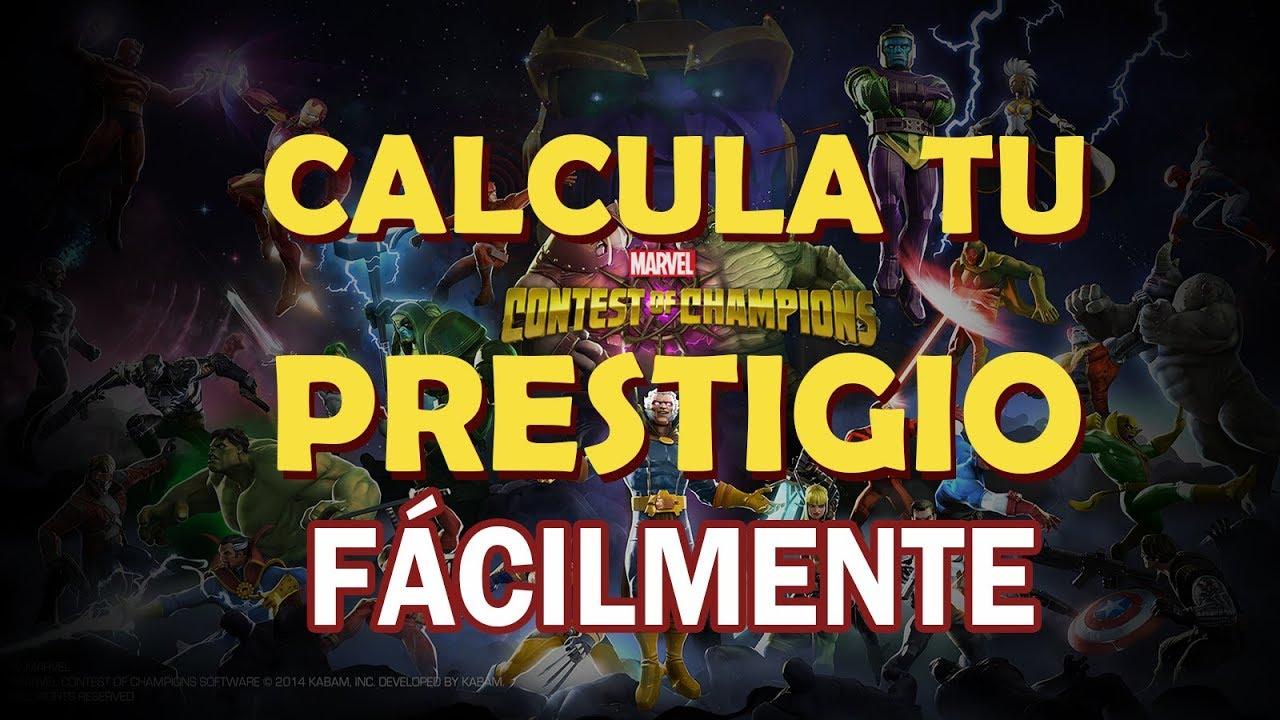 Calcular O Saber Prestigio Fácilmente Marvel Batalla De Superheroes Mcoc Youtube