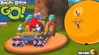 Angry Birds Go! Red Bird Terrence vs Bubbles in Subzero Xmas