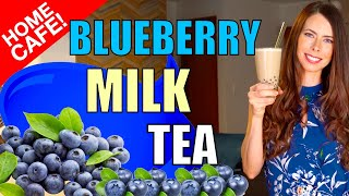 How to Make Blueberry Milk Tea at Home Using Powder