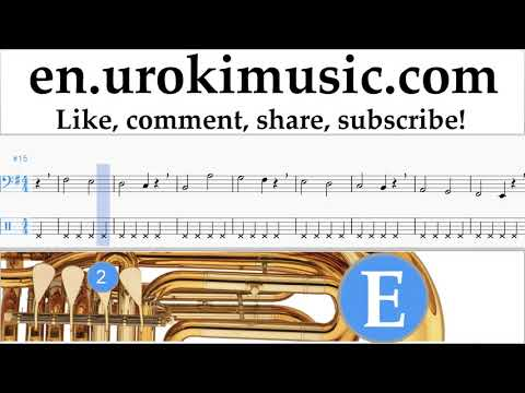 How to Play Tuba The Pink Panther - Theme Song Tabs Part#1 exercises, scales um-i352