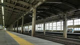 上越新幹線 浦佐駅をゆっくり通過するE7系F20編成