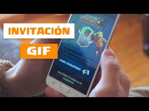 Como crear una invitaci�n GIF - Env�o mediante Whatsapp, Facebook...