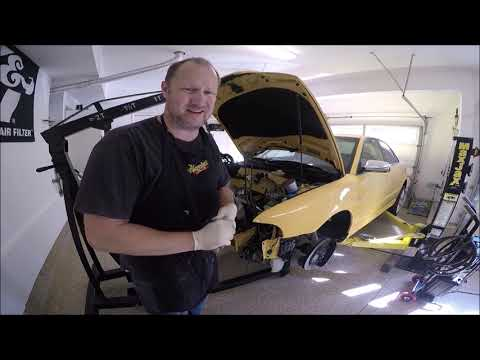 How to install an engine in a 2000 thru 2002 Audi S4