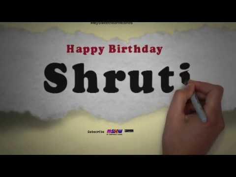 Happy Birthday Shruti | Whatsapp Status Shruti
