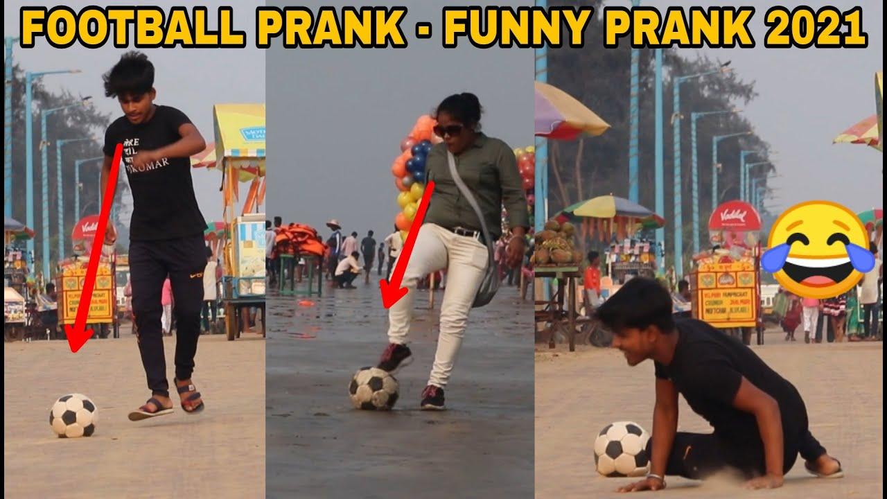 FOOTBALL PRANK ON PEOPLE || FUNNY PRANK 2021 | The Crazy Infinity