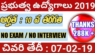 Govt jobs in January 2019 | Latest jobs information | job updates in Telugu | SLPRB Recruitment 2019