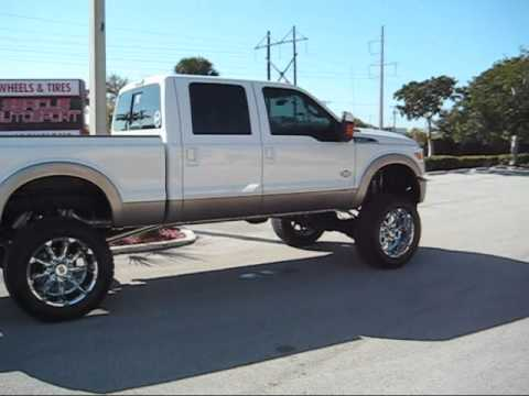 """Lifted Ford F250 >> 2011 Ford F250 with Flo Pro 5"""" Exhaust - YouTube"""
