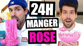 JE MANGE QUE LA NOURRITURE ROSE PENDANT 24H - HUBY