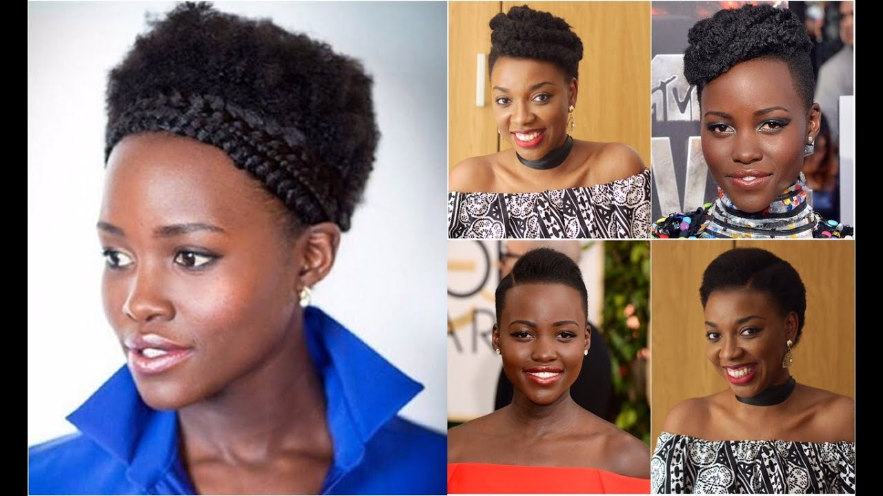 3 SHADES OF LUPITA HAIRSTYLES FOR SHORT AFRO KINKY HAIR YouTube