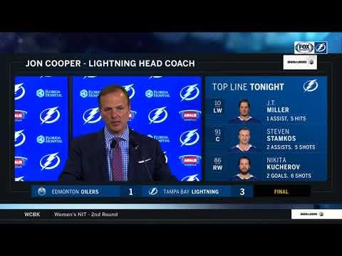 Jon Cooper -- Tampa Bay Lightning vs. Edmonton Oilers 03/18/2018