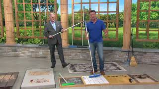 Don Aslett's Set of 2 Indoor/Outdoor Rubber Broom System on QVC