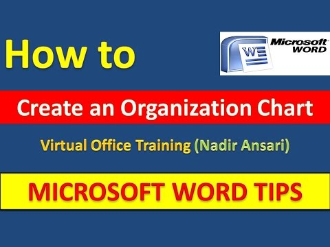 Word Tips And Tricks How To Create An Organization Chart In