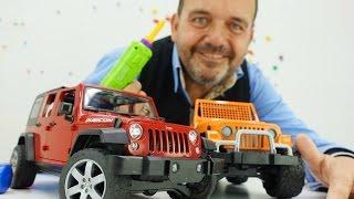 Coches para Niños. Vamos a reparar un Jeep. Videos de jugetes