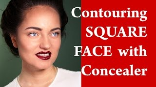 Contouring and highlighting a SQUARE face - How to apply makeup on SQUARE face video tutorial Thumbnail