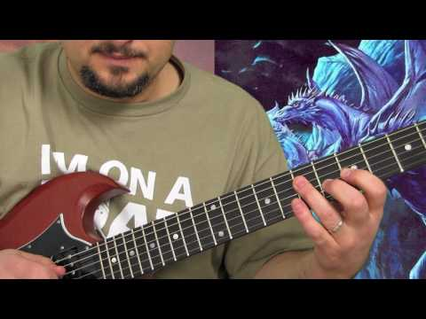 Metallica - Seek and Destroy - How to Play Heavy Metal Guitar Lesson part 1