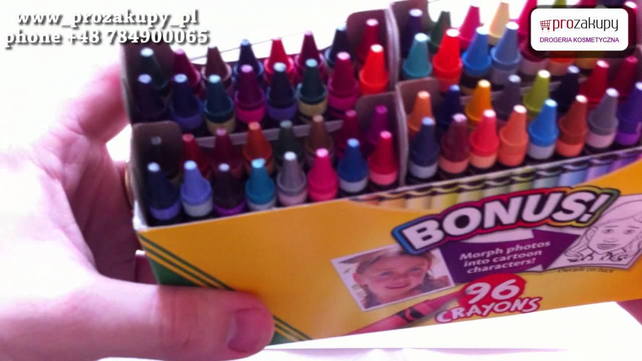 crayola 96 crayons kredki swiecowe youtube