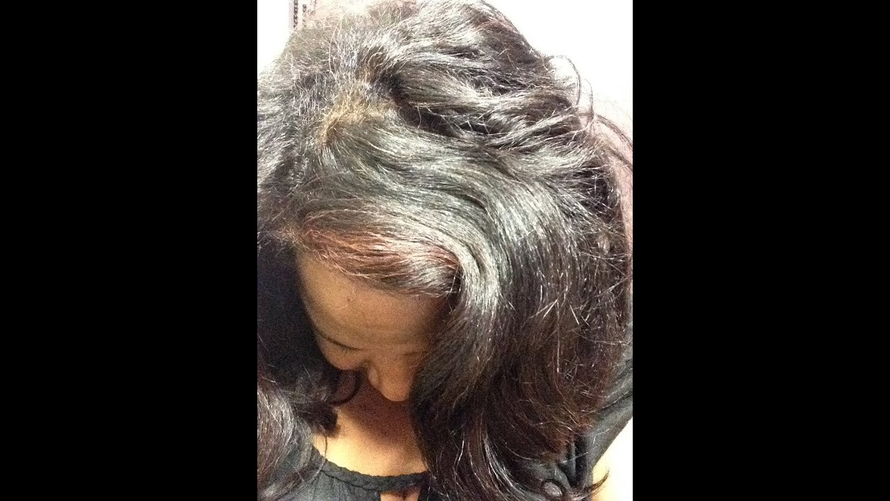 Part 1 Relaxed Hair Perm Texlax MAGNETIC ROLLER SET Day 1