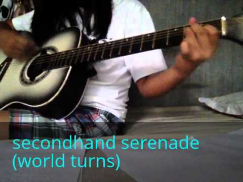 secondhand serenade - world turns (guitar cover only with lyrics in description)
