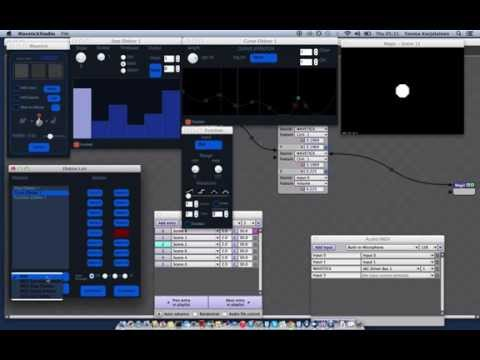 Music mapping with Wavetick Studio #1 - Magic Music Visuals