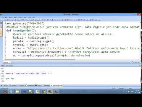 Python Tweet Gönderme Scripti Mechanize Modülü