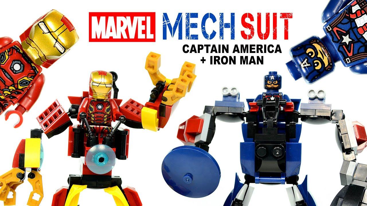 Avengers Iron Man & Captain America Mech Suit LEGO ...