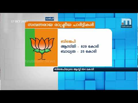 Manifold Increase In Assets Of Political Parties; BJP Tops List| Mathrubhumi News