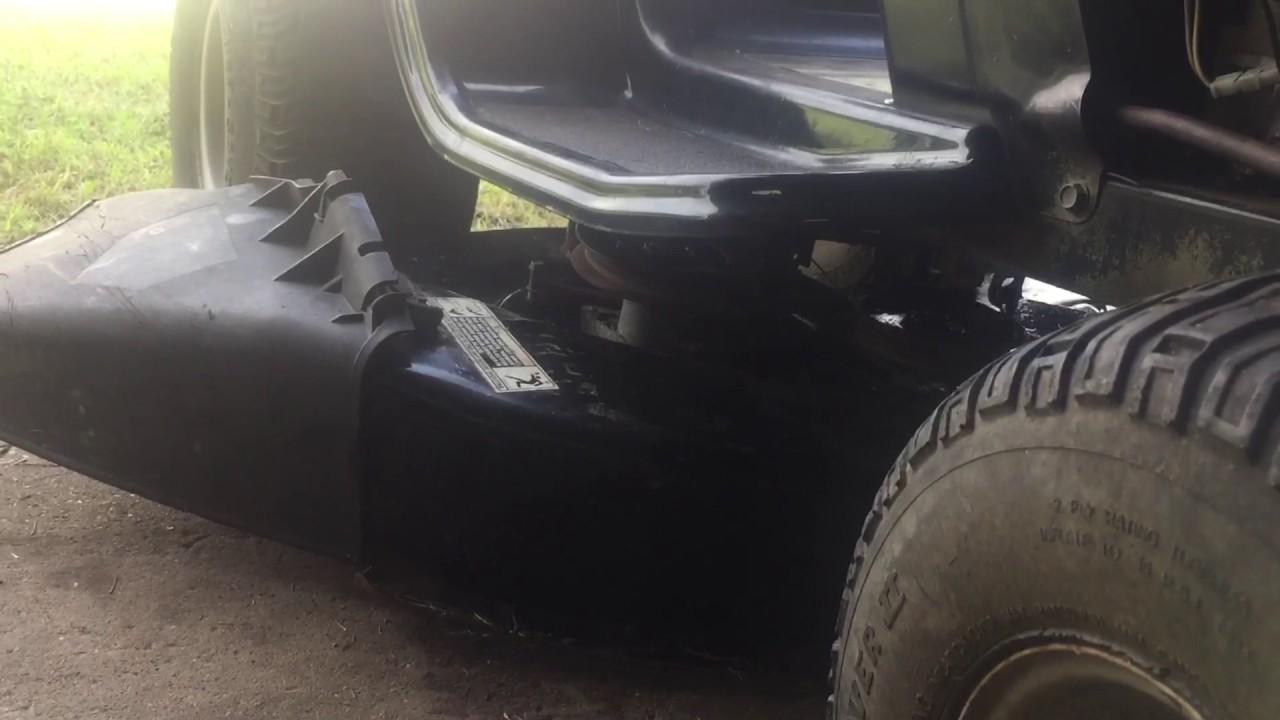 fixing a bolens riding mower deck on the cheap [ 1280 x 720 Pixel ]