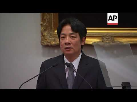 Download Taiwan president appoints Lai as new premier